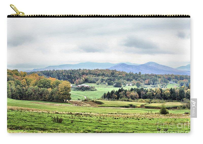 Carry-all Pouch featuring the photograph Fall Vermont Landscape by Deborah Benoit