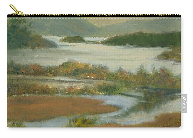 Boscobel Carry-all Pouch featuring the painting Fall View From Boscobel by Phyllis Tarlow