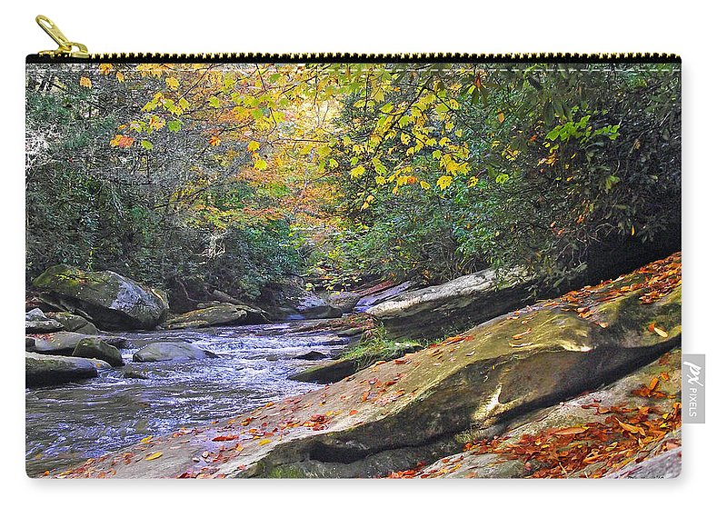 Waterfall Carry-all Pouch featuring the photograph Fall Waterfall by Duane McCullough