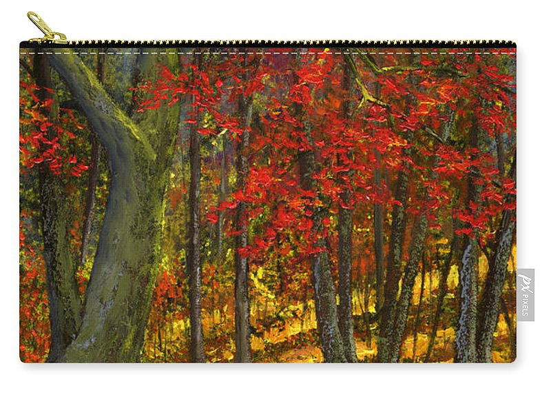Landscape Carry-all Pouch featuring the painting Fallen Leaves by Frank Wilson