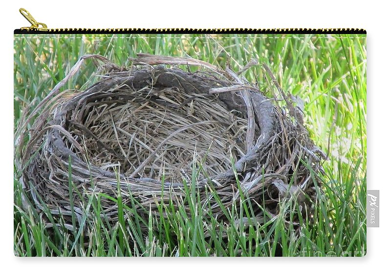 Nest Carry-all Pouch featuring the photograph Fallen Nest by Don Baker