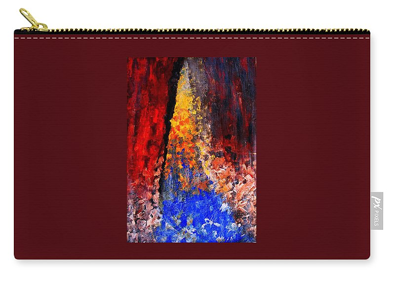 Abstract Carry-all Pouch featuring the painting Falling by Ian MacDonald