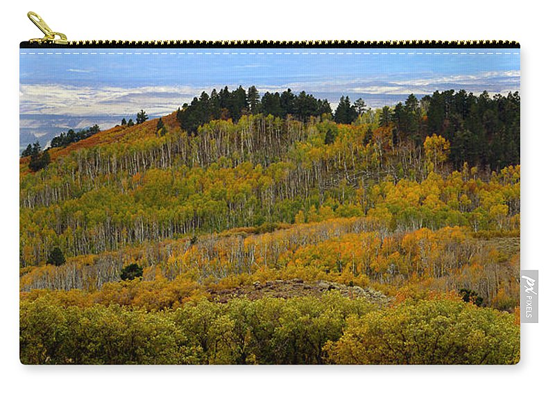 Fall Carry-all Pouch featuring the photograph Falling On The Deserts Edge by David Lee Thompson