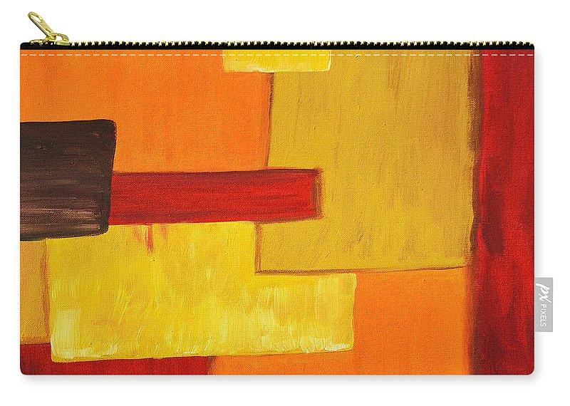 Acrylic Painting Carry-all Pouch featuring the painting Falling by Sherry Allen