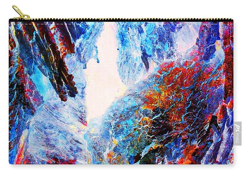 Jamie Lynn Gabrich Carry-all Pouch featuring the photograph Falling Through Fire by Jamie Lynn