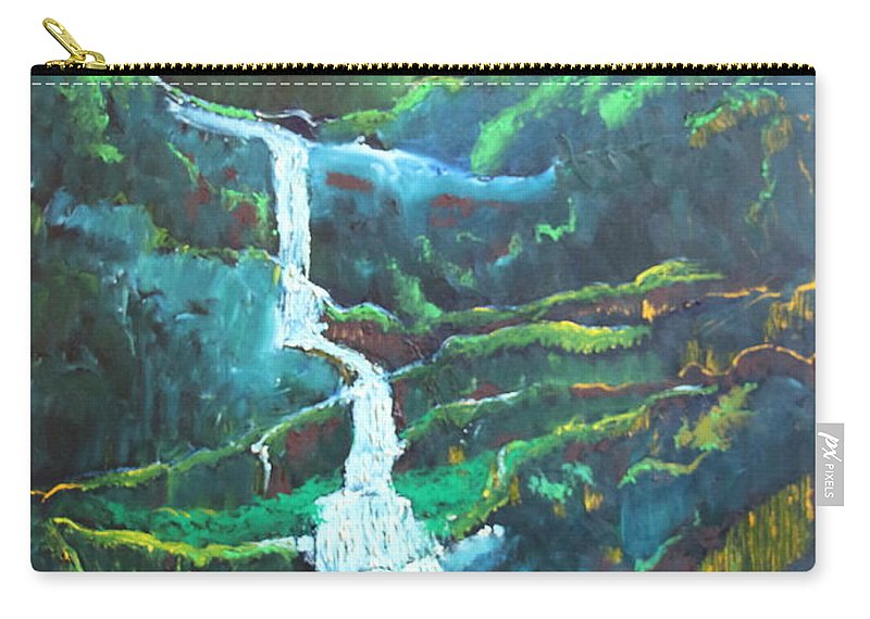 Landscape Carry-all Pouch featuring the painting Falling To Grace by Stefan Duncan