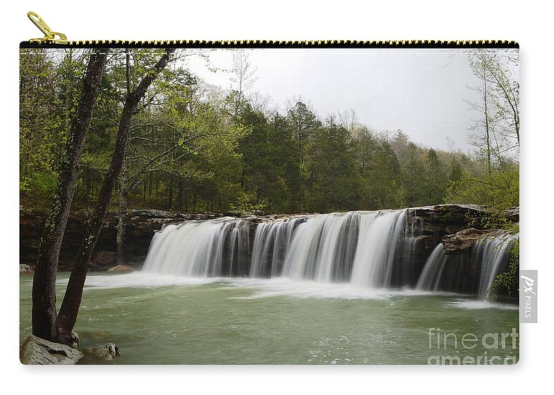Waterfalls Carry-all Pouch featuring the photograph Falling Water Falls by Deanna Cagle