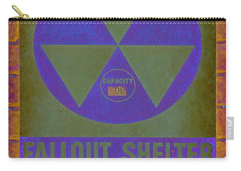 Fallout Carry-all Pouch featuring the photograph Fallout Shelter Abstract by Stephen Stookey
