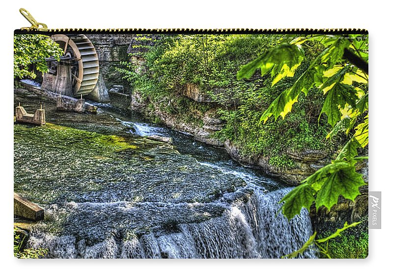 Hdr Carry-all Pouch featuring the photograph Falls.. by Les Lorek