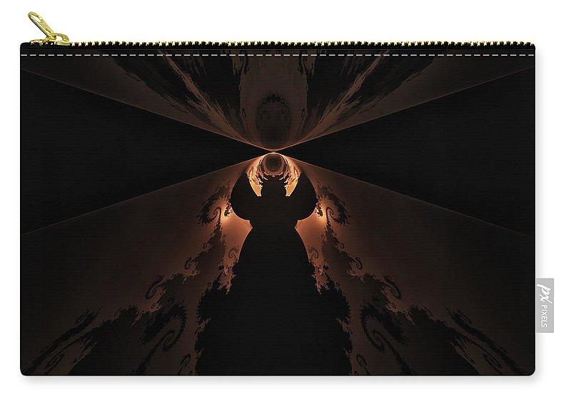 Fractal Carry-all Pouch featuring the digital art False Prophet by GJ Blackman