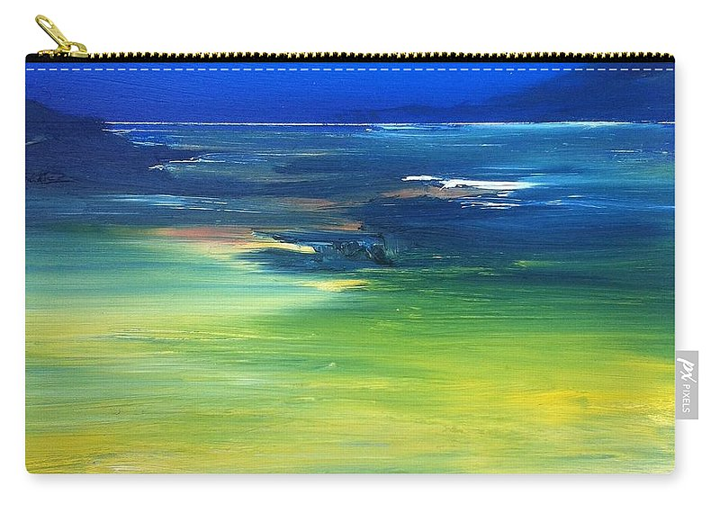 Reef Carry-all Pouch featuring the painting Blue Waters by Fiona Jack
