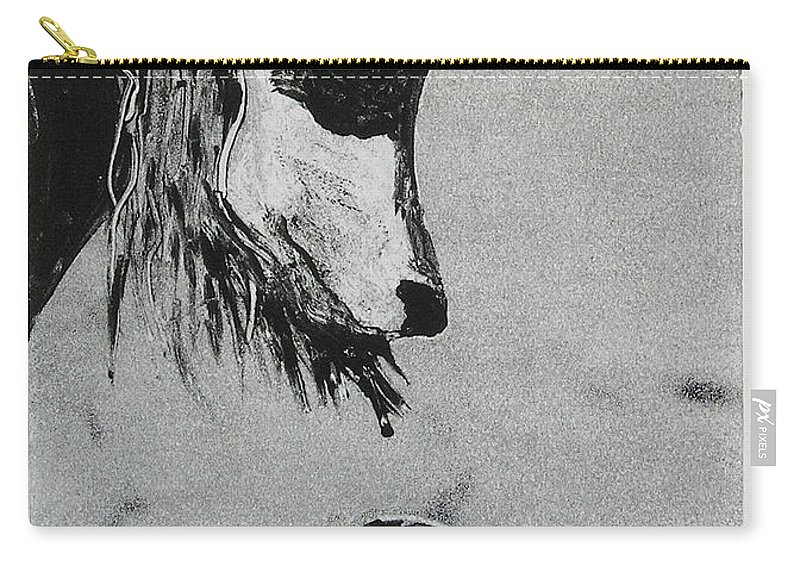 Saluki Carry-all Pouch featuring the mixed media Family Affair by Cori Solomon