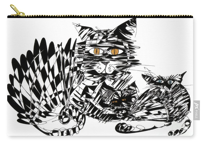 Cat Art Carry-all Pouch featuring the photograph Family Cat by Justyna JBJart