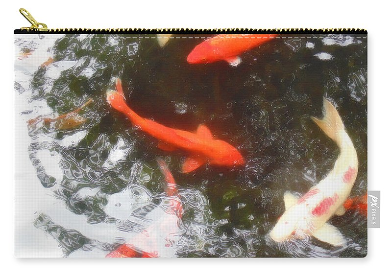 Koi Carry-all Pouch featuring the photograph Family Members 3 by Marcello Cicchini