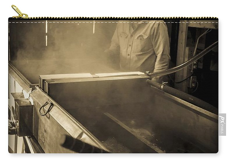 Maple Carry-all Pouch featuring the photograph Family Tradition by Edward Fielding
