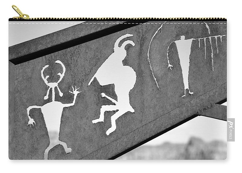 Rock Art Carry-all Pouch featuring the photograph Famous Rock Art by David Lee Thompson