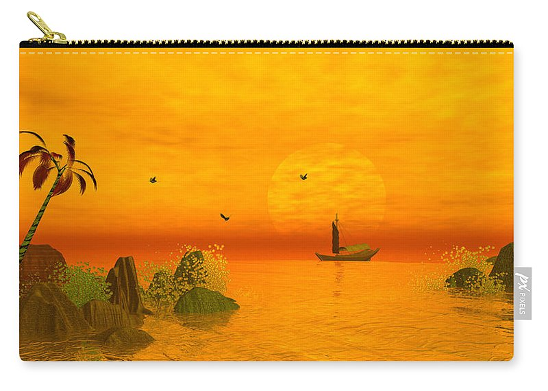Fanasty Cove Carry-all Pouch featuring the digital art Fanasty Cove by John Junek