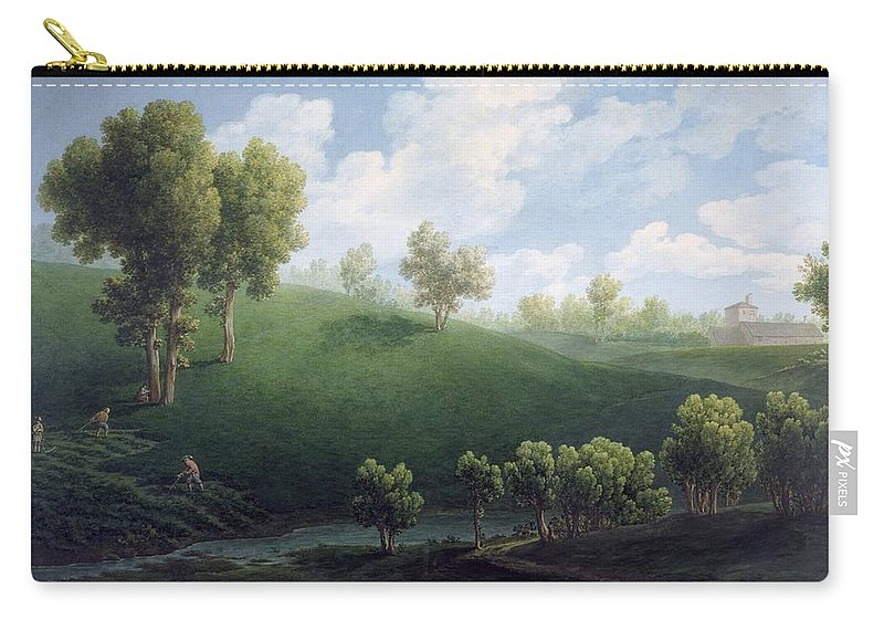 Art; Painting; 19th Century Painting; Europe; Italy; Bagetti Giuseppe Pietro; Centuries; 19th; Turin Palazzo Reale Carry-all Pouch featuring the painting Fantastic Landscape by Giuseppe Pietro Bagetti
