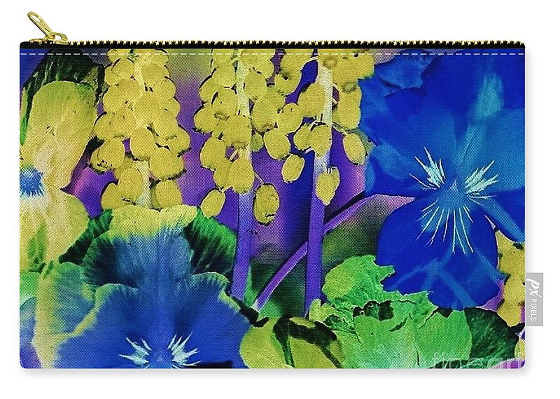 Flower Carry-all Pouch featuring the photograph Fantasy Garden by Eloise Schneider Mote