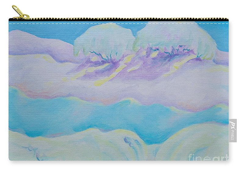 Acrylics Carry-all Pouch featuring the painting Fantasy Snowscape by Michele Myers