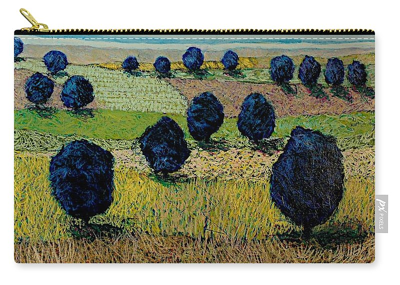 Landscape Carry-all Pouch featuring the painting Faraway Field by Allan P Friedlander