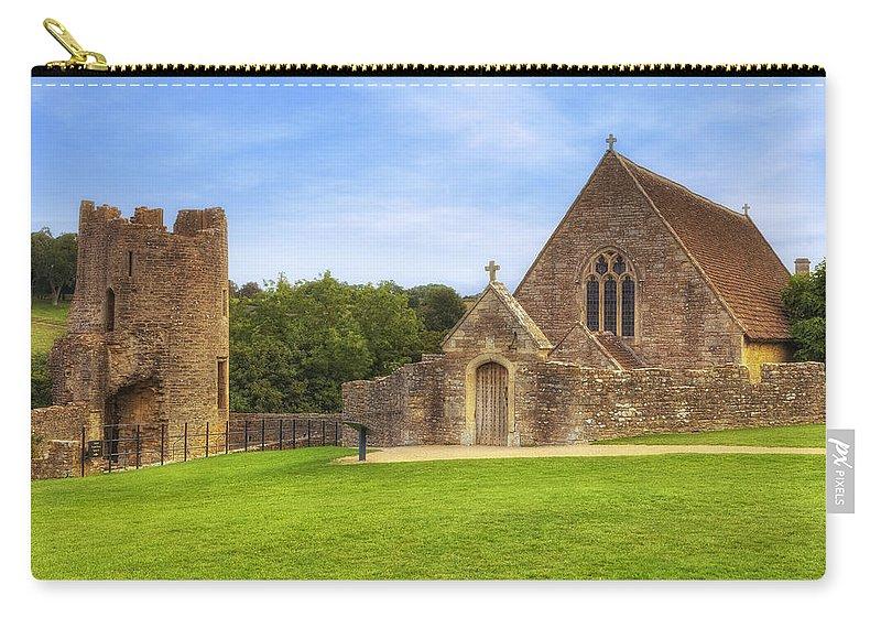 Farleigh Hungerford Castle Carry-all Pouch featuring the photograph Farleigh Hungerford Castle by Joana Kruse