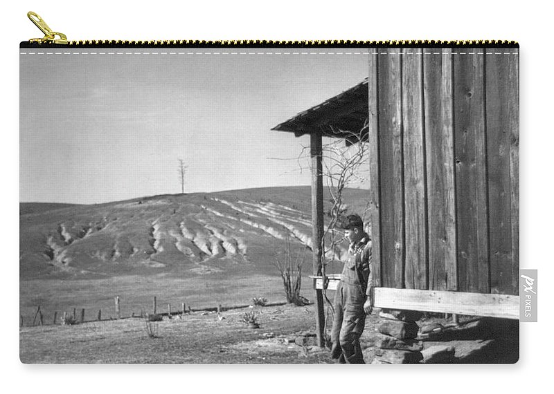 1937 Carry-all Pouch featuring the photograph Farm Erosion, 1937 by Granger