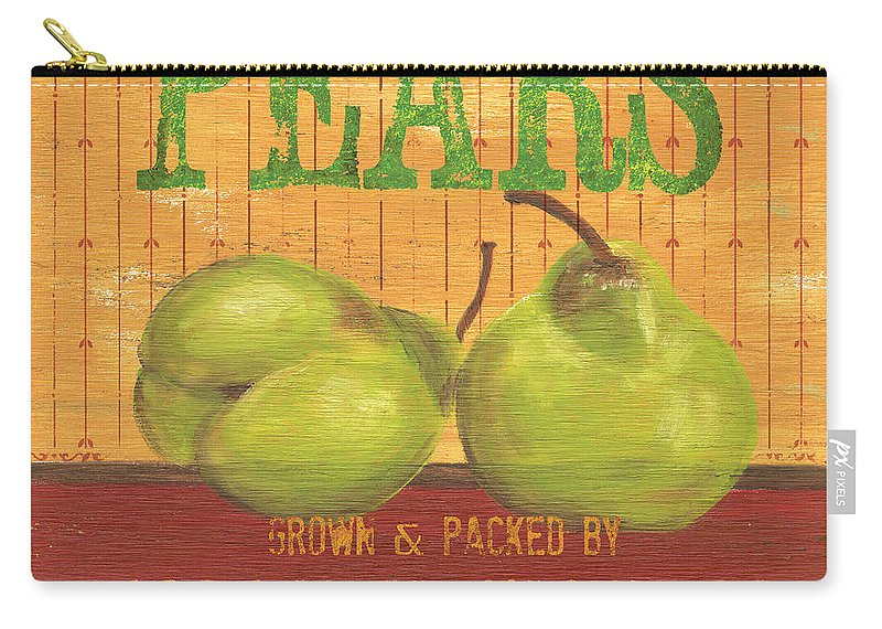 Food Carry-all Pouch featuring the painting Farm Fresh Fruit 1 by Debbie DeWitt