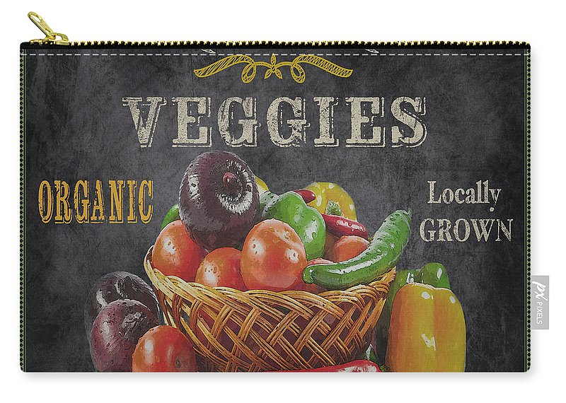 Chalkboard Carry-all Pouch featuring the digital art Farm Fresh-jp2637 by Jean Plout