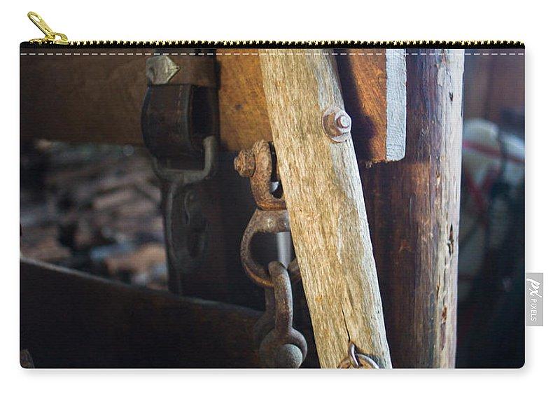 Farm Carry-all Pouch featuring the photograph Farm Gear 1 by Douglas Barnett
