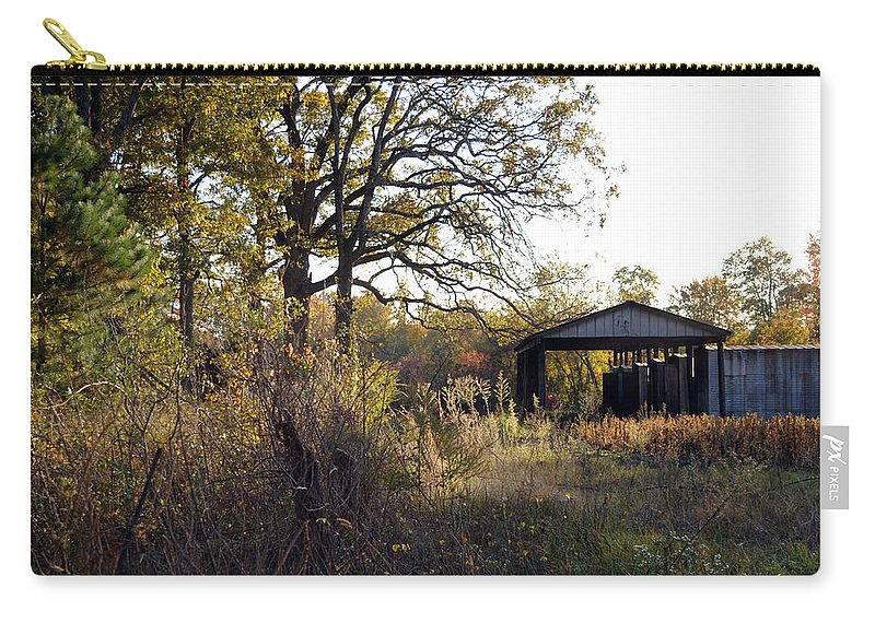 Popular Carry-all Pouch featuring the photograph Farm Journal - Metal Storage by Paulette B Wright