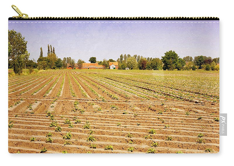 Texture Carry-all Pouch featuring the photograph Farm Landscape by Pati Photography