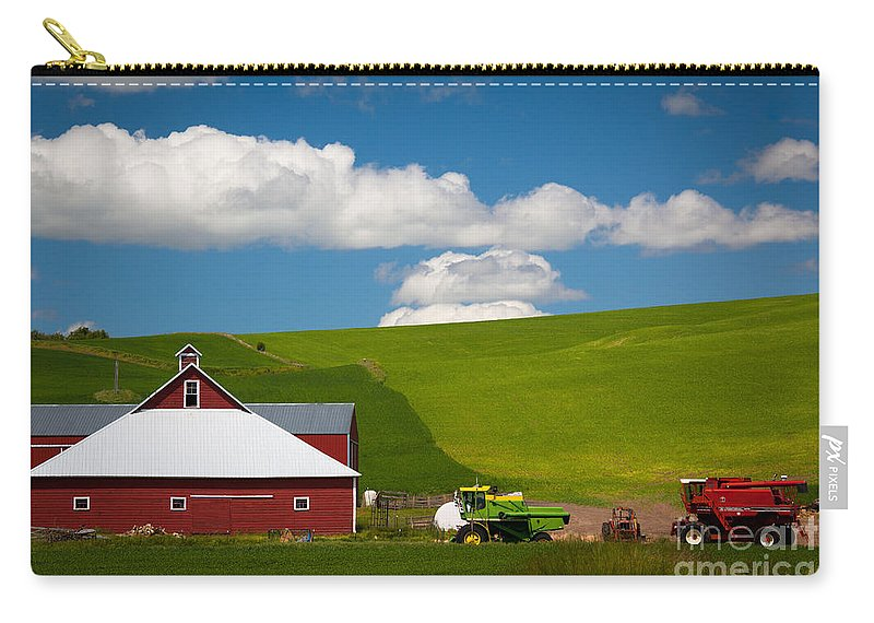 America Carry-all Pouch featuring the photograph Farm Machinery by Inge Johnsson