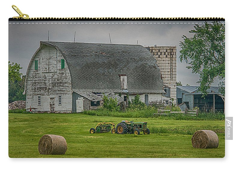 Ferm Scene Carry-all Pouch featuring the photograph Farm Scene by Paul Freidlund