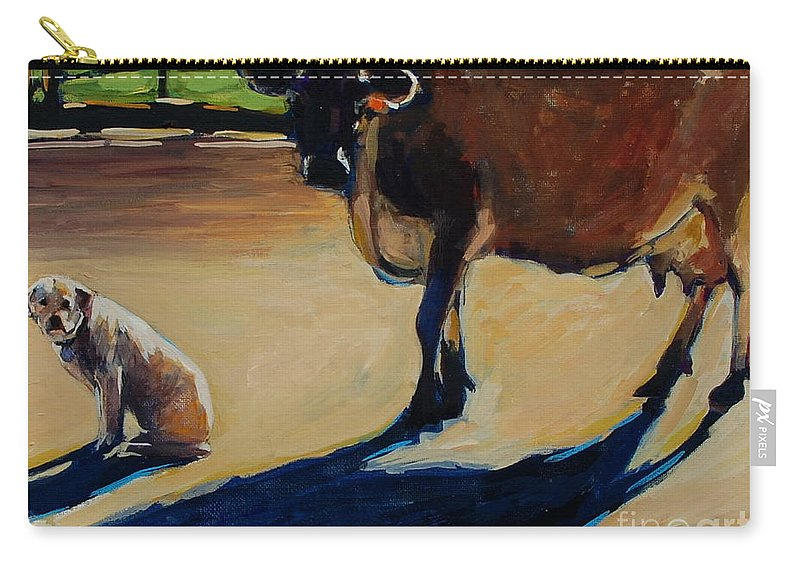Farm Carry-all Pouch featuring the painting Farm Visit by Molly Poole
