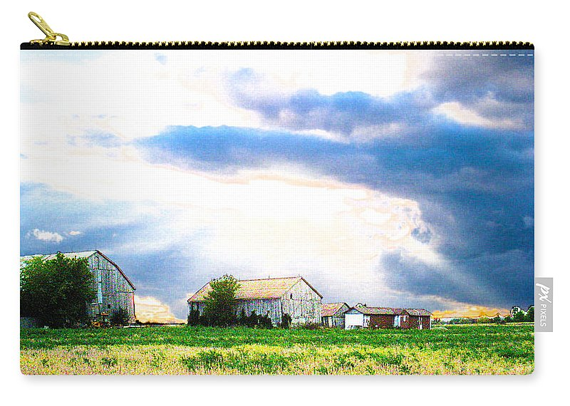 Farms Carry-all Pouch featuring the photograph Farmer's Field At Sundown by Nina Silver