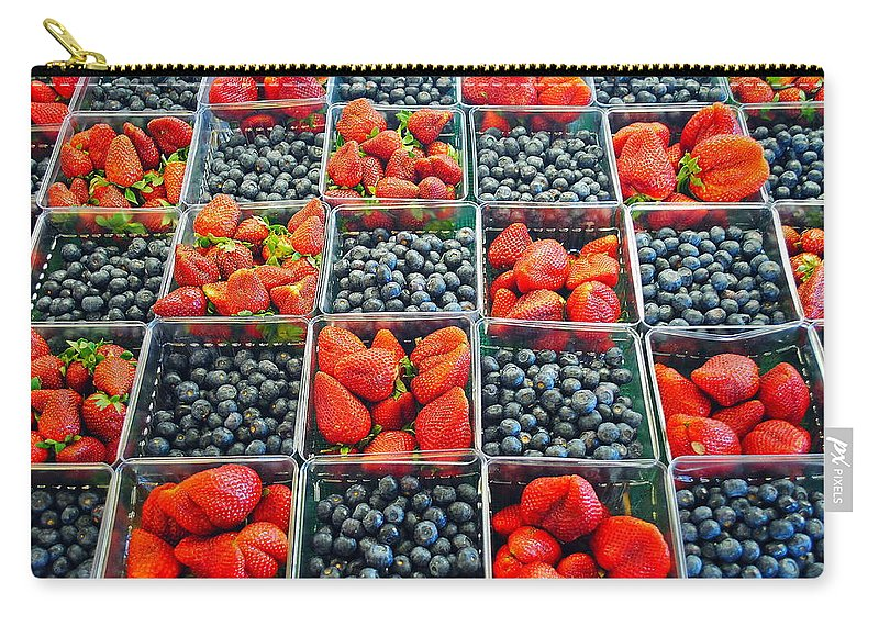 Cleveland Carry-all Pouch featuring the photograph Farmers Market by Frozen in Time Fine Art Photography