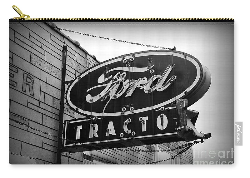 Paul Ward Carry-all Pouch featuring the photograph Farming - Ford Tractors by Paul Ward