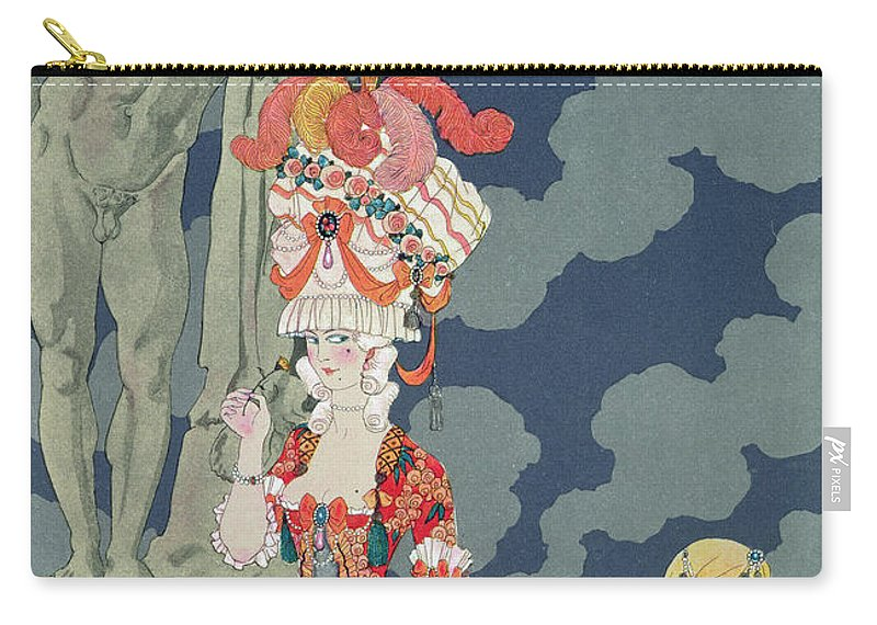 Female Carry-all Pouch featuring the painting Fashion At Its Highest by Georges Barbier