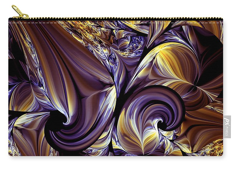 Abstract Carry-all Pouch featuring the digital art Fashion Statement Abstract by Georgiana Romanovna