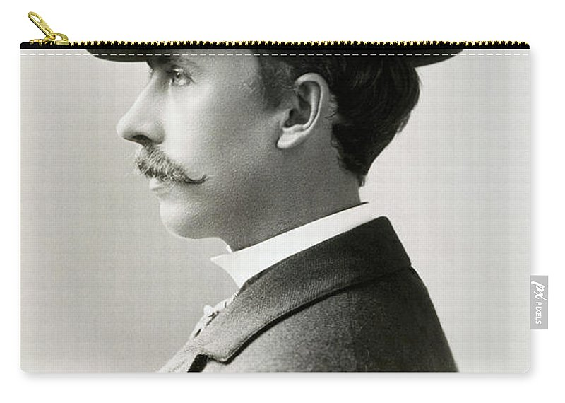 1896 Carry-all Pouch featuring the photograph Fashion Trilby Hat, 1896 by Granger