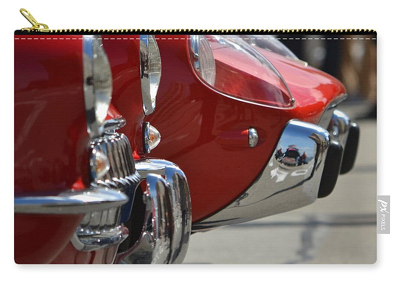 Red Carry-all Pouch featuring the photograph Fast Sports Cars by Dean Ferreira
