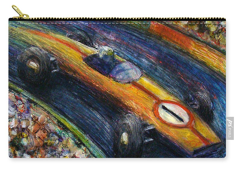 Car Carry-all Pouch featuring the painting Fastcar by James Raynor