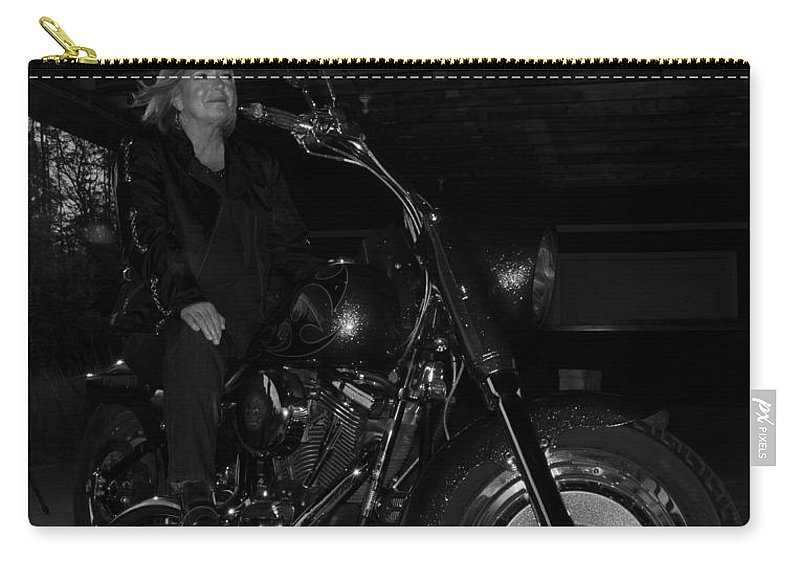 Fat Boy Carry-all Pouch featuring the photograph Fat Boy In The Barn by Guy Whiteley