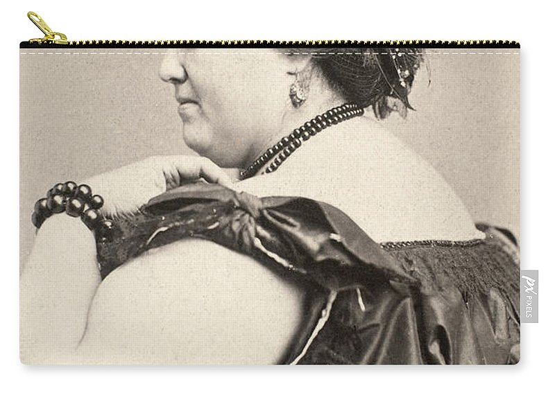 19th Century Carry-all Pouch featuring the photograph Fat Lady, 19th Century by Granger