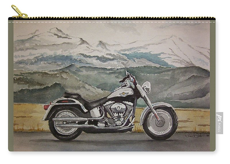 Fatboy Carry-all Pouch featuring the painting Fatboy by Rachel Hames