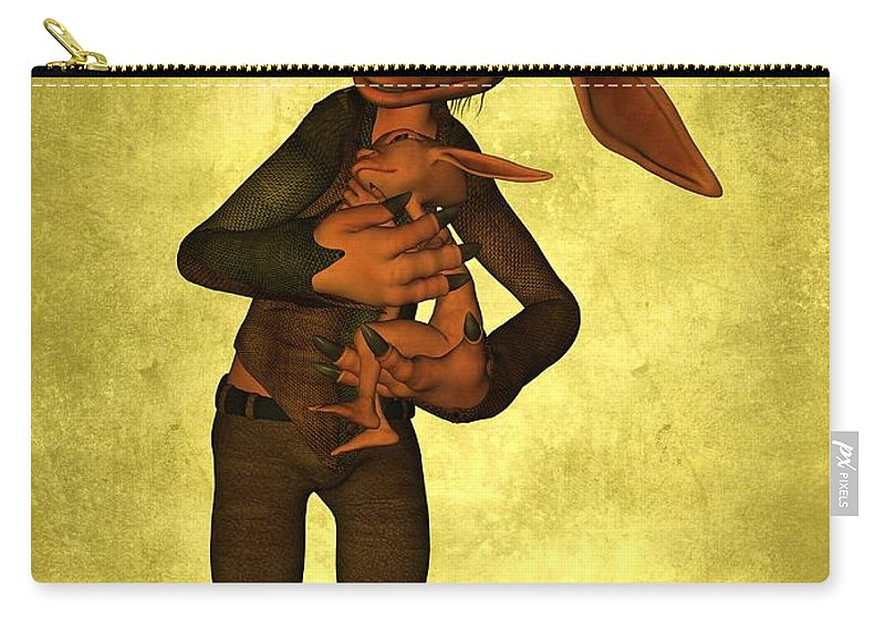 Child Carry-all Pouch featuring the digital art Father And Son by Gabiw Art