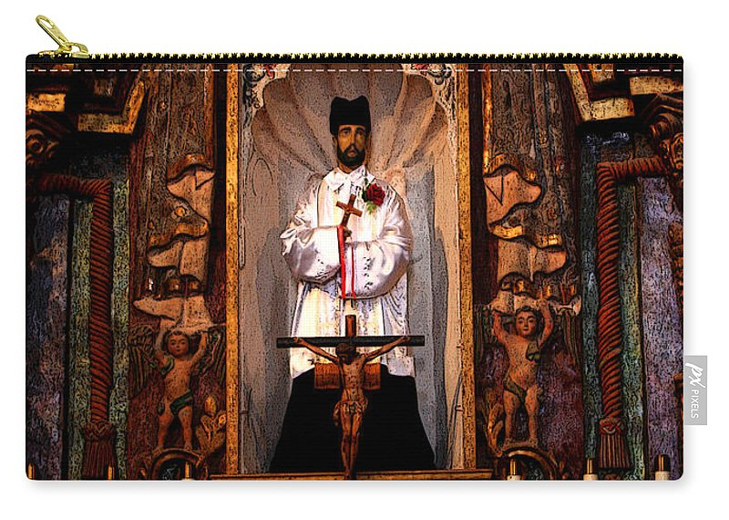 Religious Carry-all Pouch featuring the photograph Father Kino by Joe Kozlowski