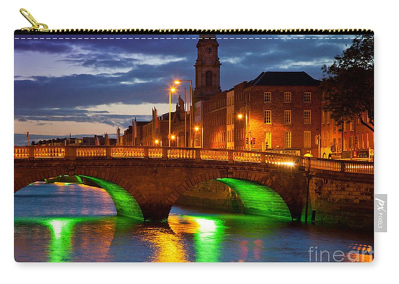 Dublin Carry-all Pouch featuring the photograph Father Matthew Bridge by Inge Johnsson