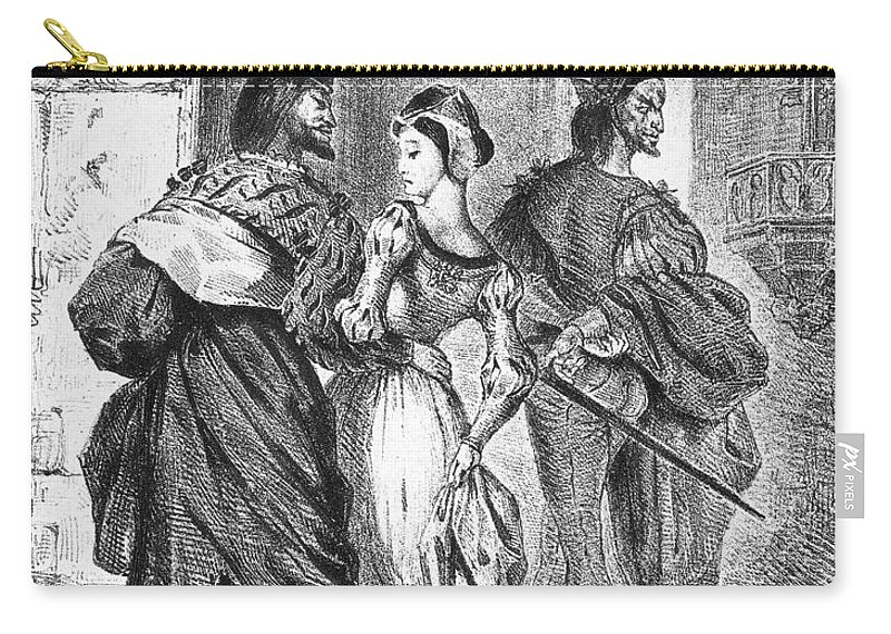 1828 Carry-all Pouch featuring the photograph Faust: Mephistopheles 1828 by Granger